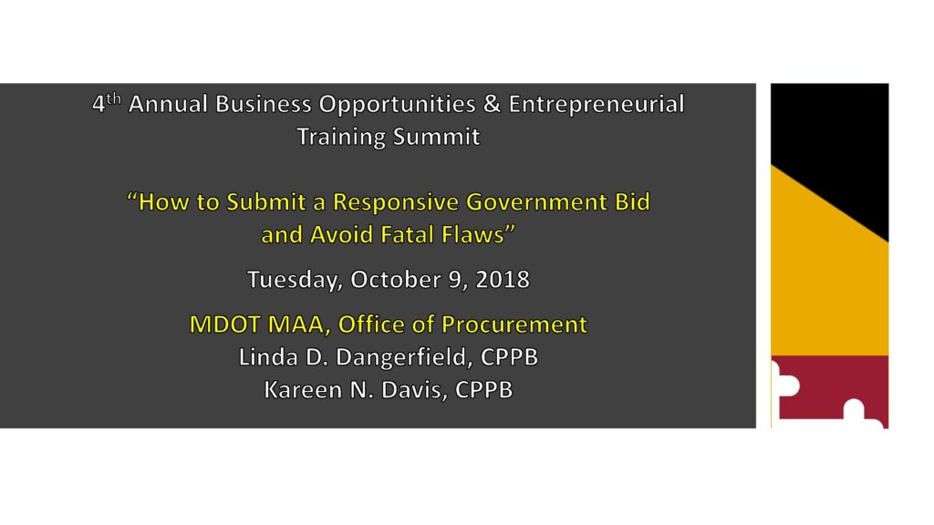 Presentations | 5th Annual Maryland Business Opportunities